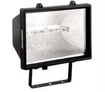 Прожектор галогенный 1000 Вт черный с лампой